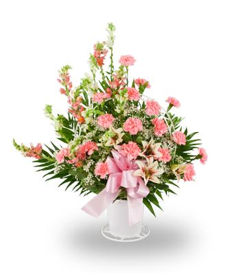 Pink and lavender basket